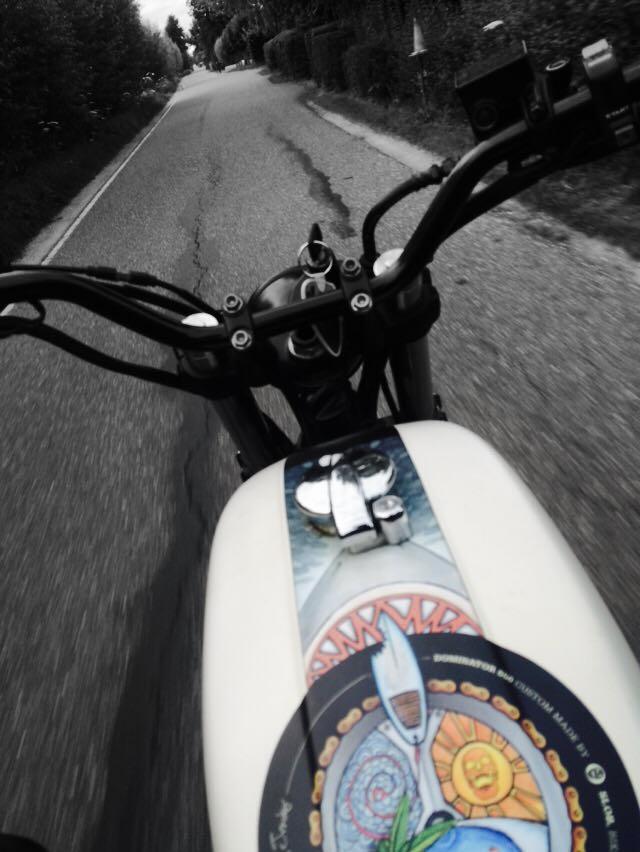 Beach bike on the road